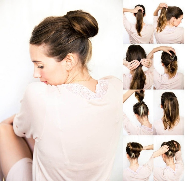 10 Easy Bun Updos Tutorials für 2014