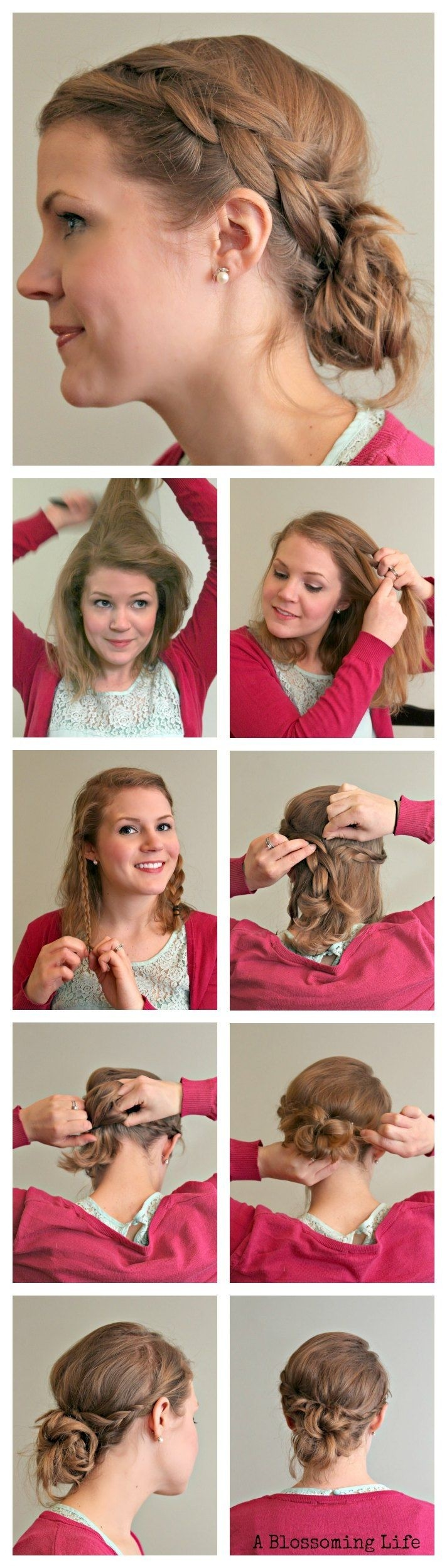 2014 Prom Hairstyles: Loosely Braided Messy Bun Tutorial
