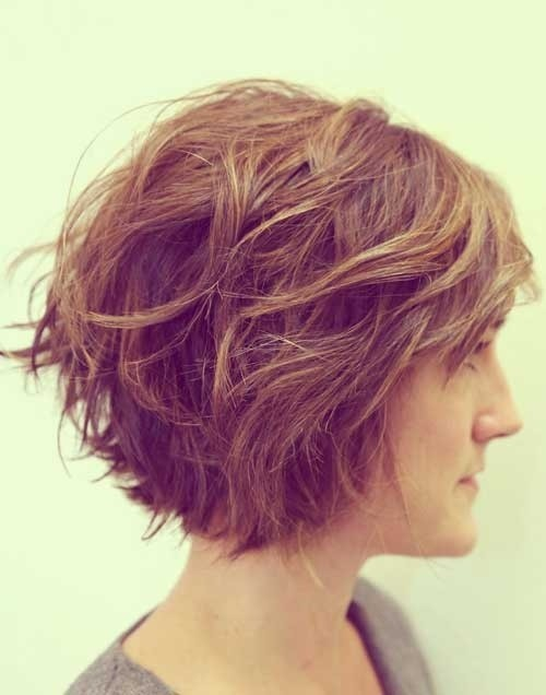 2017 Short Hairstyles For Thick Hair Side View