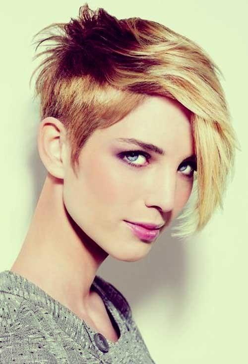 Asymmetrical Short Hairstyles for Thick Hair: Long Bangs