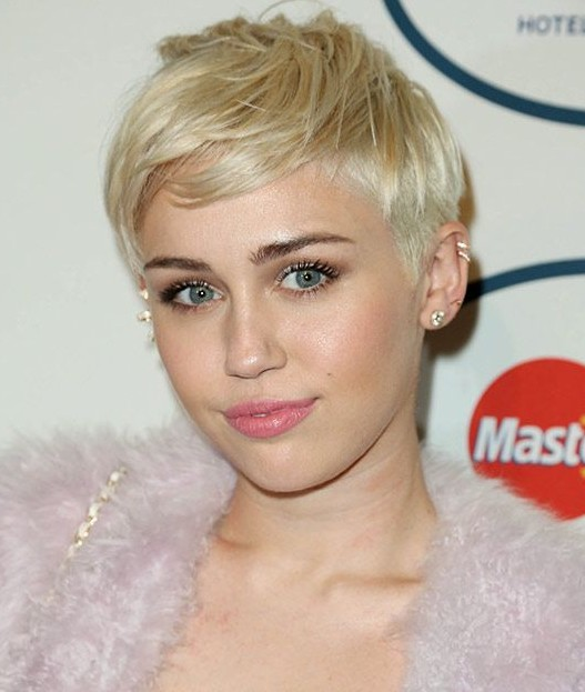 Blond Pixie Haircut: Miley Cyrus Short Hair