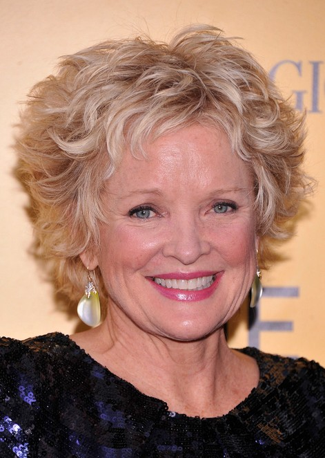 Blonde Curly Pixie Haircuts for Older Women: Christine Ebersole Short Hairstyle