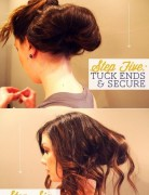 Casual Holiday Hairstyles: Messy Updo Tutorial
