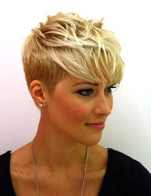 Chic Messy Pixie Haircut Side View