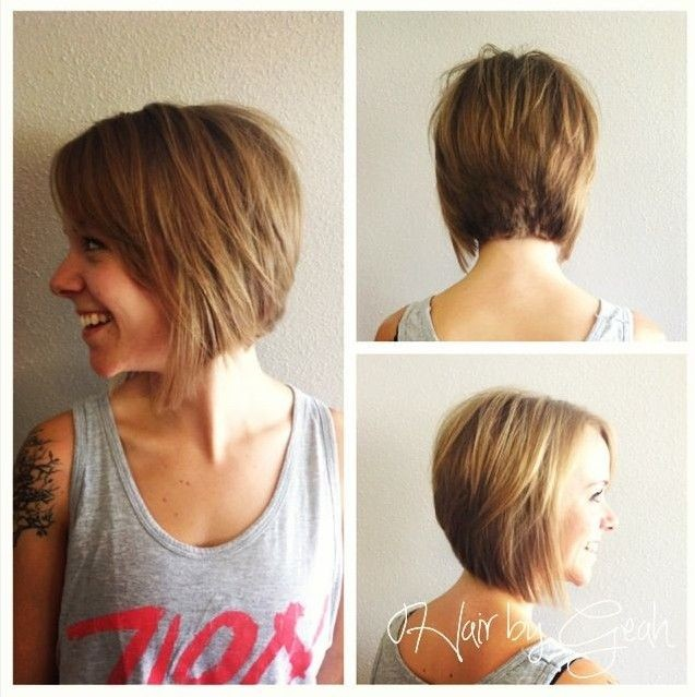 Short Graduated Bob Hairstyles 2014