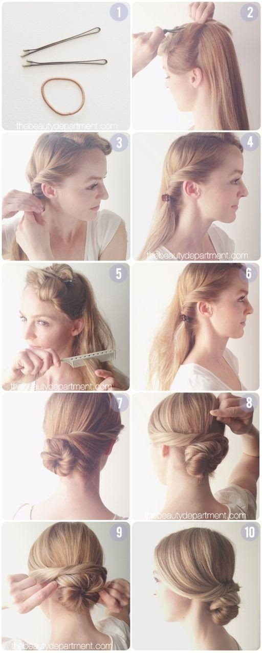 Everyday Hairstyles Tutorial: Easy Low Chignon Bun - PoPular Haircuts