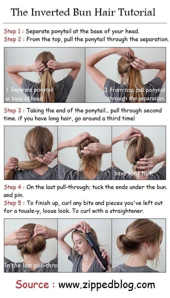 Everyday Hairstyles Tutorials: Inverted Bun Updos