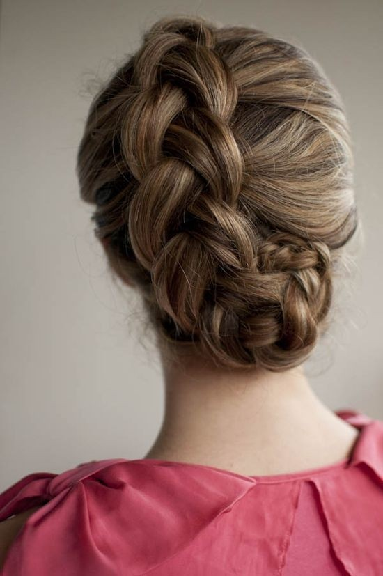 Holiday Dutch Braided Updo Hairstyle Tutorial for Long Hair