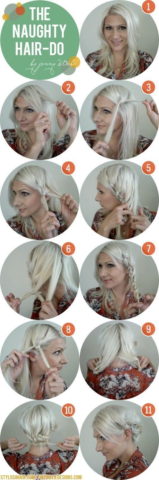 How to Do A Side Braid Messy Bun Updos