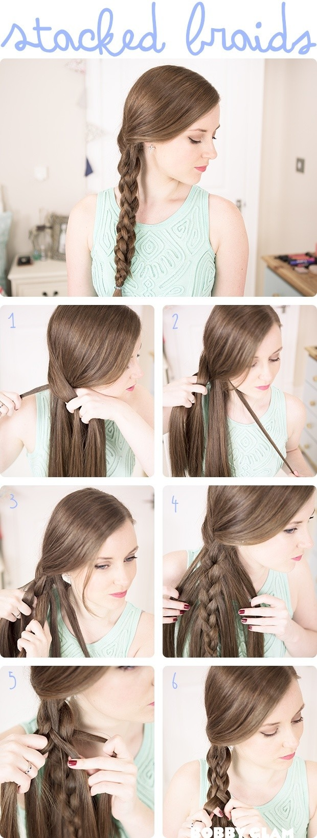 So stylen Sie: Stacked Braids Tutorial