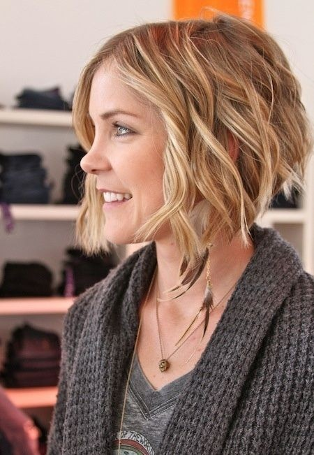 Wavy Hairstyles Short Hair 60