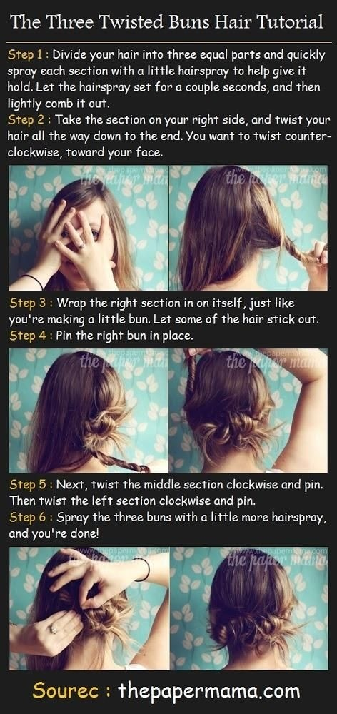 Lange Frisuren Tutorial für Twisted Bun Hochsteckfrisuren