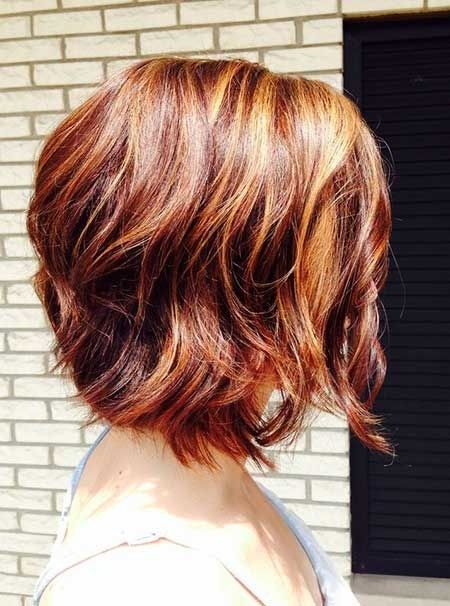 Ombre Short Haircuts for Wavy Hair