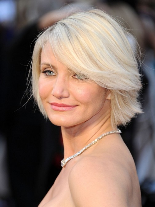 Short Haircuts For Older Women Cameron Diaz Bob Hairstyles