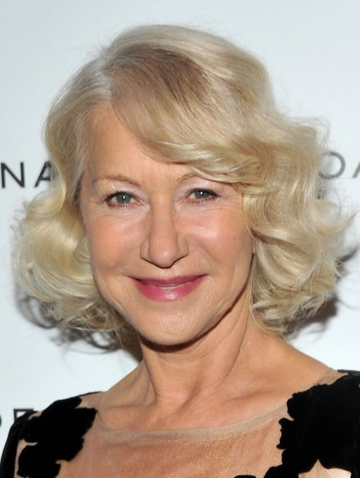 Short Haircuts for Older Women: Helen Mirren Curly Hairstyle