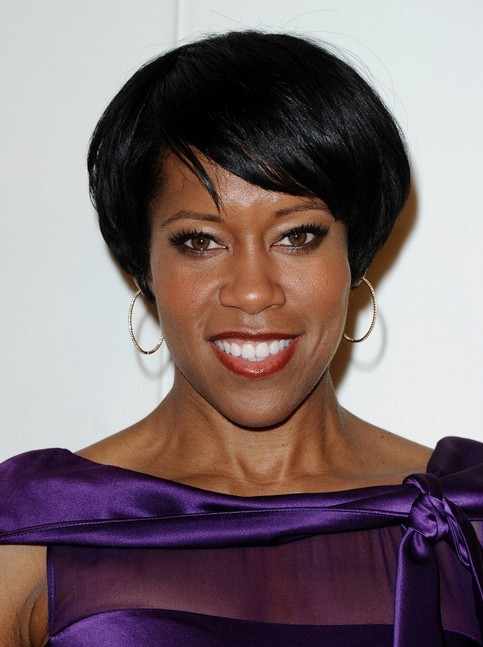 Short Haircuts for Older Women: Regina King Straight Pixie Hairstyle