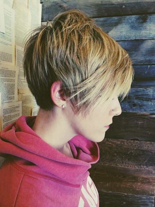 Straight Long Pixie Haircut for Winter