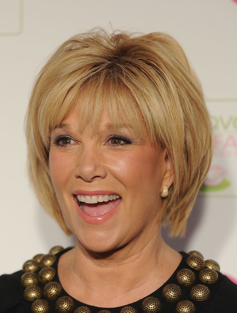 Straight Short Bob Haircut For Older Women