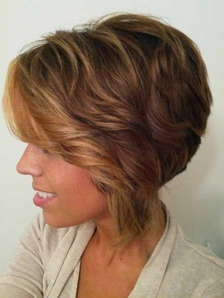 Wavy Asymmetric Bob Haircut for Long Face: Afro American Women Short Hairstyles