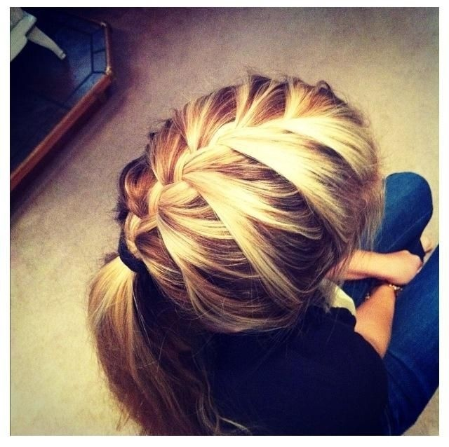 Blonde French Braided Hair Style