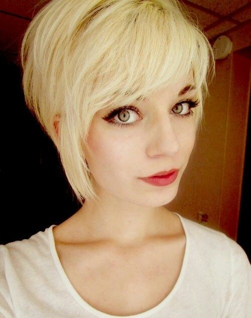 Blonde Pixie Haircuts with Side Long Bangs /pinterest