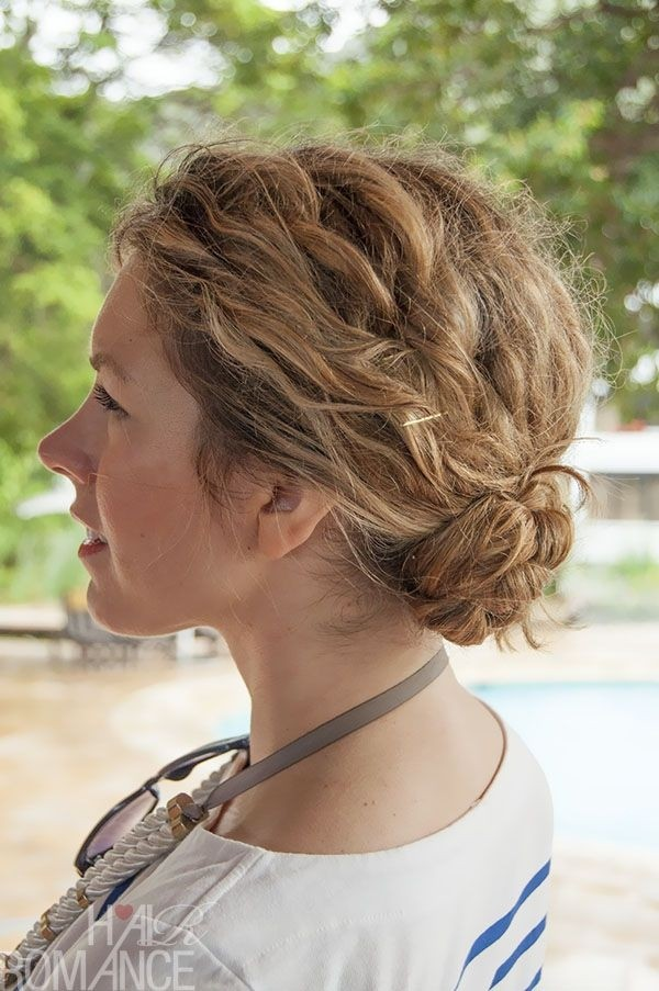 Braided Bun for Curly Hair