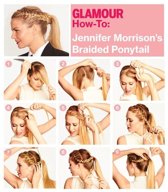 Braided Ponytail Hairstyles Tutorial