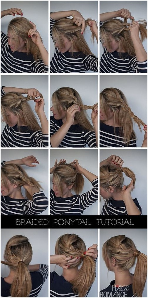 Braids with Ponytail Hairstyles Tutorial
