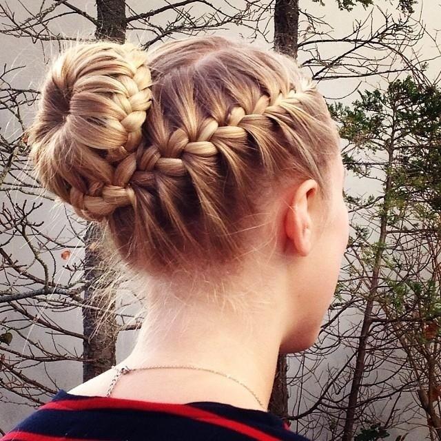 Chic Braided Bun Hair Styles