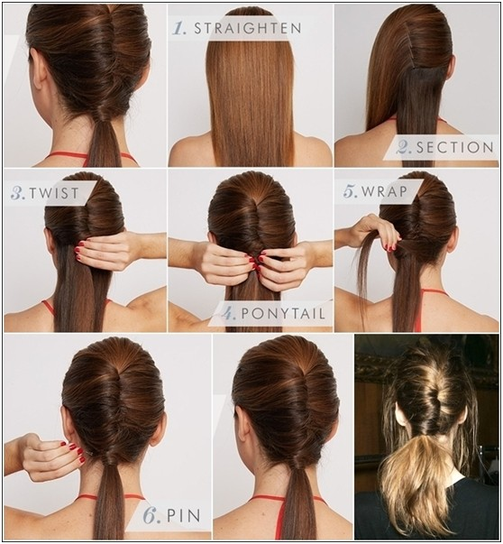 15 cute and easy ponytail hairstyles tutorials popular haircuts chic diy chignon ponytail hairstyle tutorial solutioingenieria