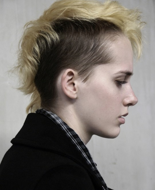 Chic Faux Hawk Hairstyle - Short Shaved Haircuts 2014 - 2015