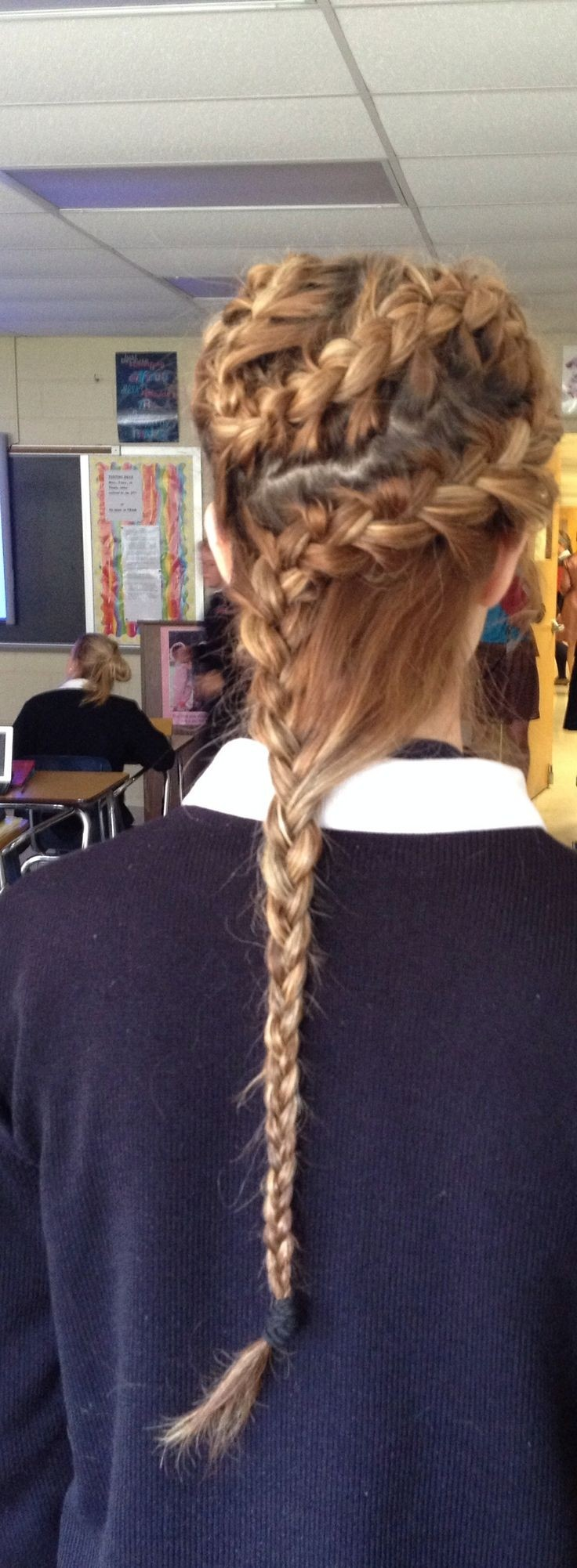 Cool Curvy French Braid with Regular Braid for Long Hair