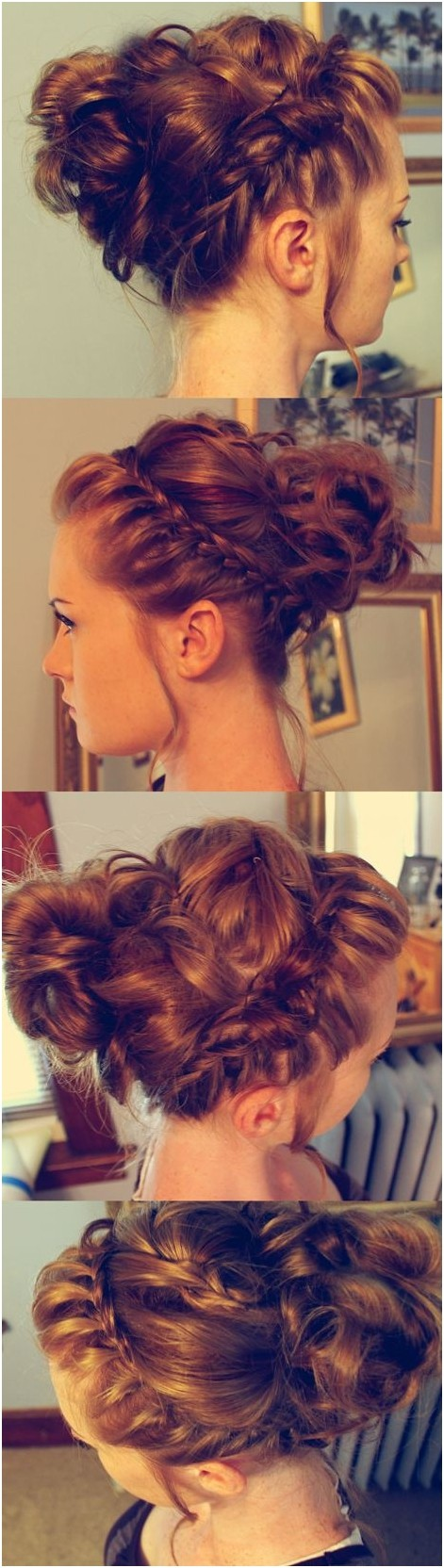 Cute Braids Bun Updos: Holiday Hairstyles