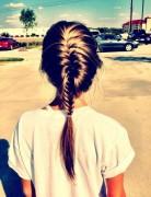 Cute Fishtail French Braid: Stylish Long Hairstyles