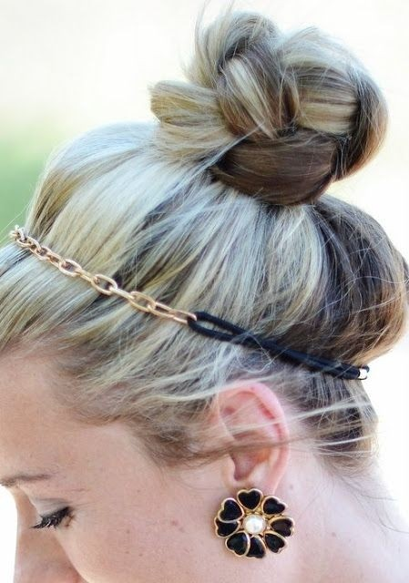 Cute High Bun Updos