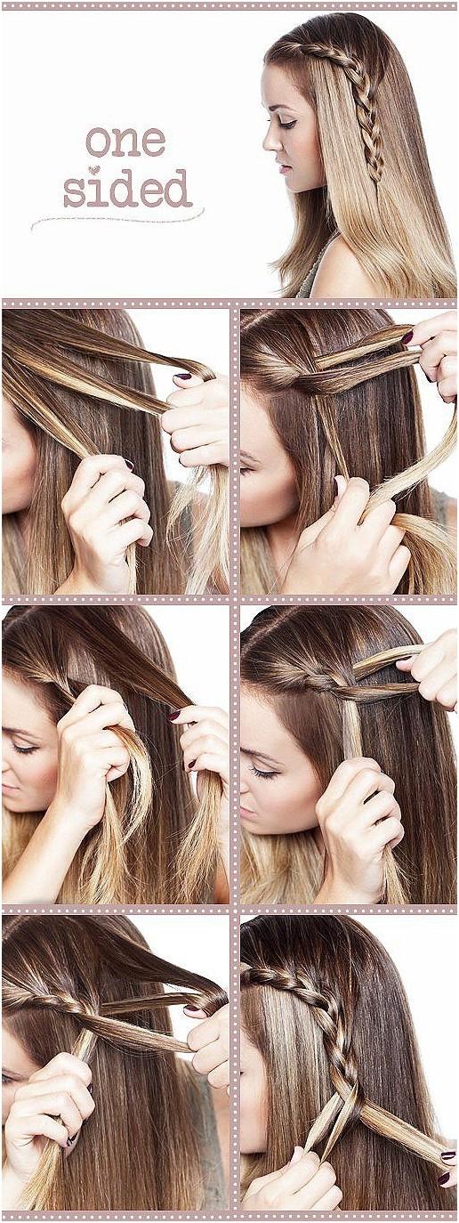 Cute One Side Braid Hairstyle Tutorial