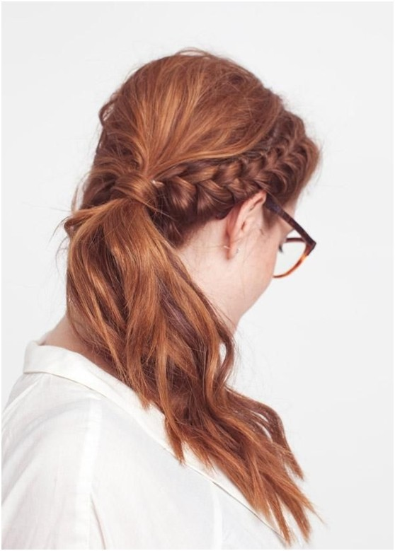 Cute Ponytail Hairstyles with Braid