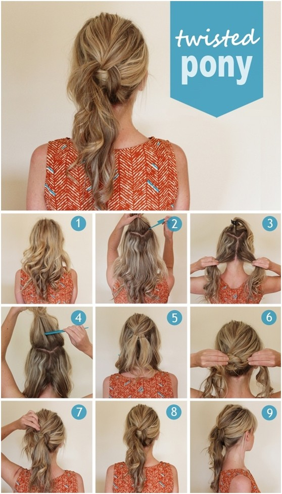 15 cute and easy ponytail hairstyles tutorials popular haircuts cutest twisted ponytail hairstyles tutorial solutioingenieria Images