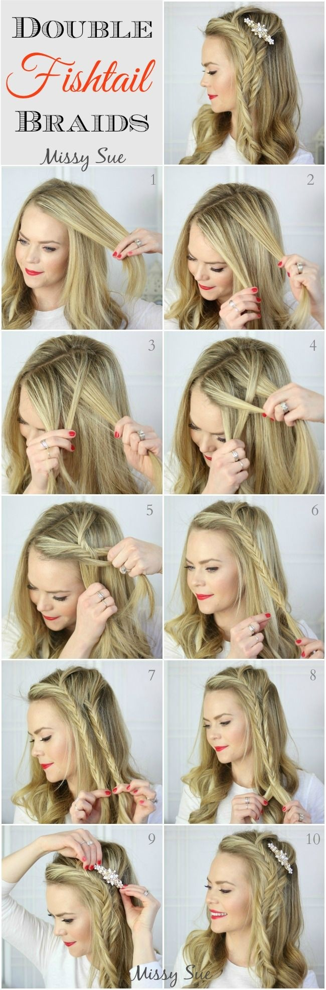 Awesome 10 French Braids Hairstyles Tutorials Everyday Hair Styles Hairstyle Inspiration Daily Dogsangcom