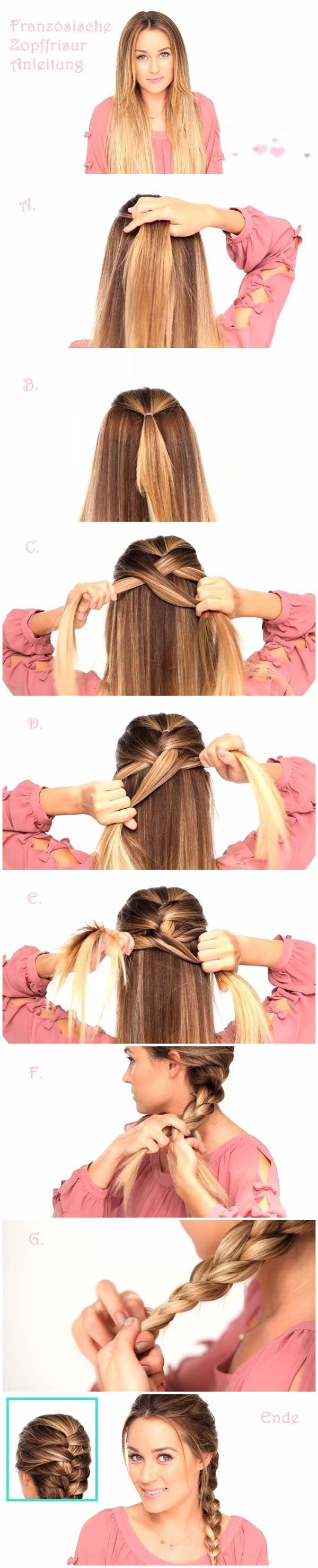 French Braids Hairstyles Tutorials Everyday Hair Styles - Classic hairstyle tutorials