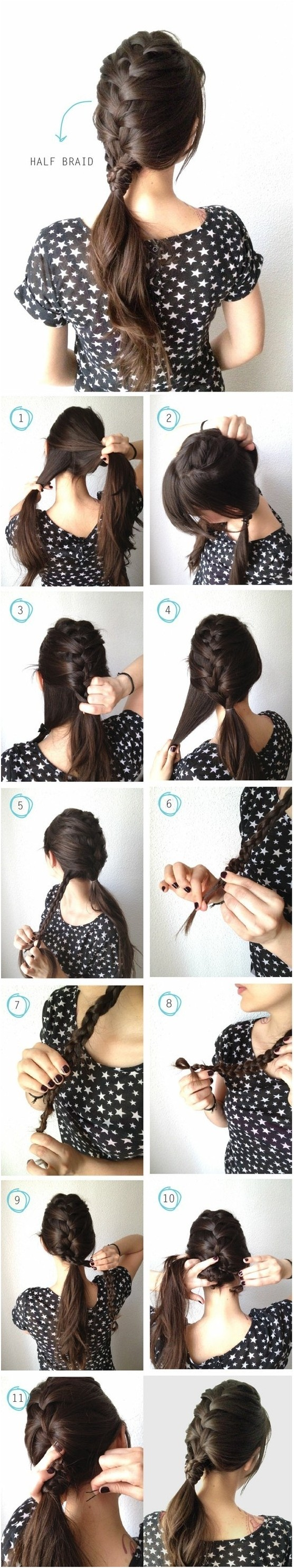 Easy Braided Ponytail Hairstyles Tutorial