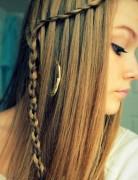Easy Waterfall Braid for Long Straight Hair: Girls Hairstyles