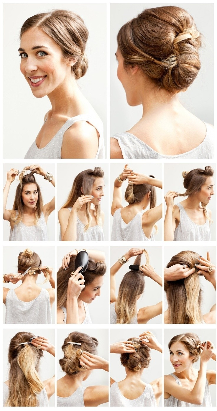 Easy Wedding Hairstyles Tutorial Chignon Updo For Bridesmaids