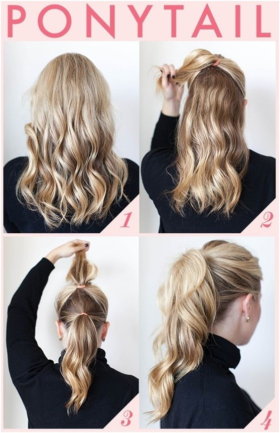 easy ponytail styles for medium hair 15 and easy ponytail hairstyles tutorials popular 6650