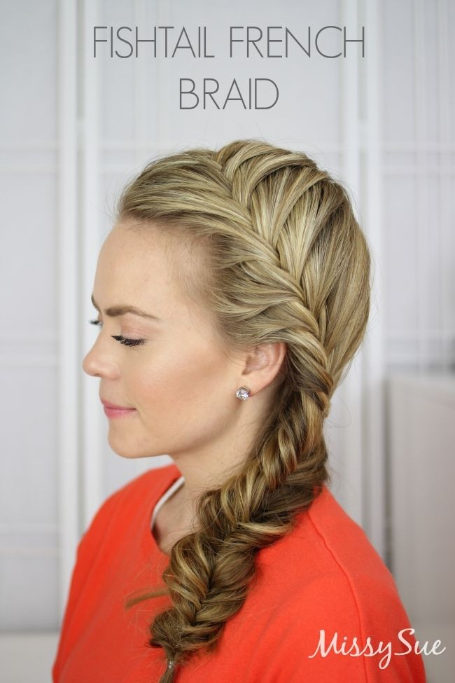 Fishtail French Braid: Missy Side Braided Hairstyles for Women