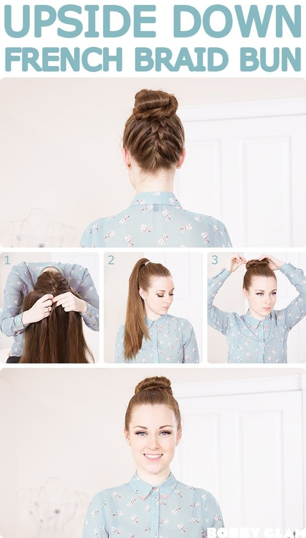 10 french braids hairstyles tutorials everyday hair styles french braid bun updos tutorial holidays hairstyles solutioingenieria Gallery