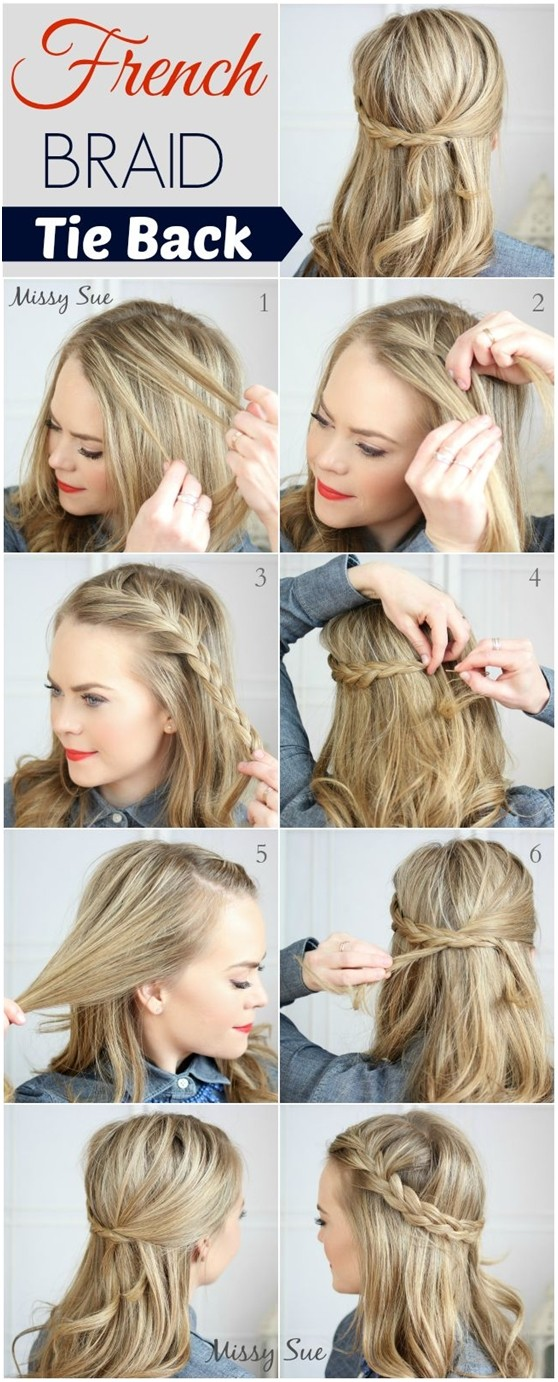Awesome French Braid Hairstyle For Medium Hair Braids Hairstyle Inspiration Daily Dogsangcom
