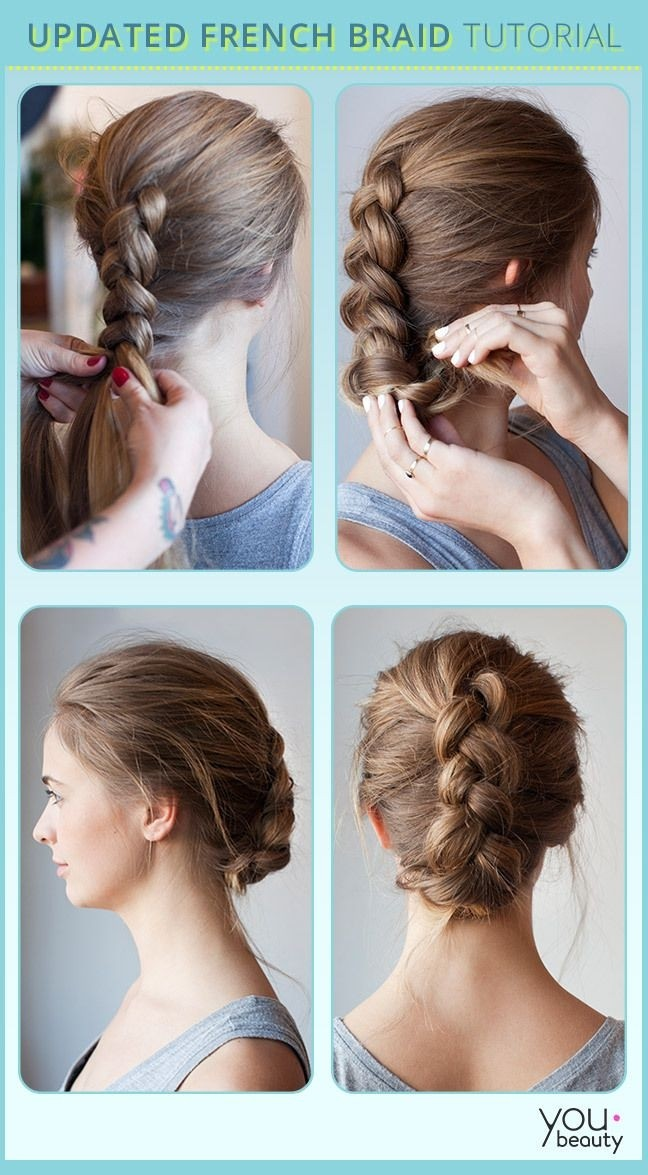 Braids Updo Hairstyle Tutorial – How To Style Maiden Braids