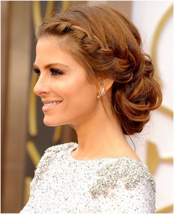 Hairstyles Updos casual updo for short hair Gorgeous Low Bun Updos With Braids