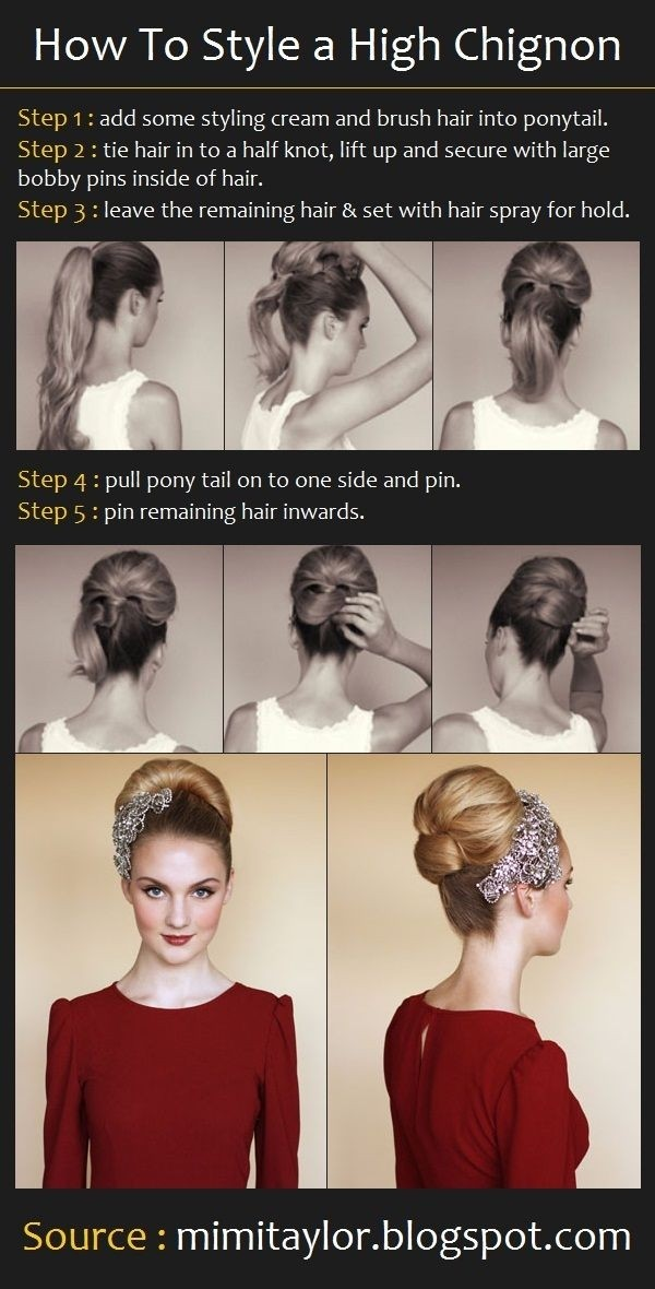 High Chignon Hairstyles Tutorial for Wedding: Bridal Hairstyle